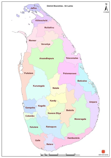 Sri Lanka District Map
